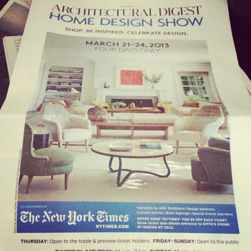 Our ad in today's New York Times!  Come see the show!