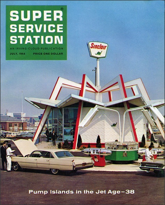 Jet Age Gas Pumps, 1964 Roadsidepictures