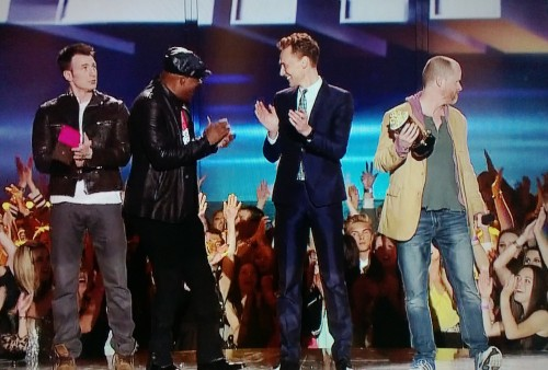 Chris Evans, Samuel L. Jackson, Tom Hiddleston, Joss Whedon #MTVMovieAwards