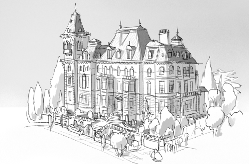 scottwatanabe:Final design of Big Hero 6 Mansion (I won't spoil it for people not familiar with the story) Also some early exploration of other versions.