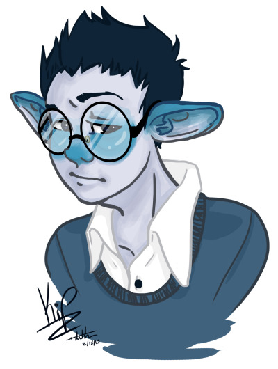 This is Kip! He's from an absolutely amazing and adorable webcomic called Monsterkind (You should read it).
