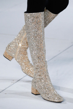 fashion Glitter heels shoes Boots details accessories fashion details Saint Laurent Saint Laurent ready to wear fall 2014