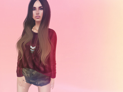 coveryournickers:  Skin - *Glance Skins - Lana - Medium - SKIN PACK Hair - >TRUTH< Haven -  fades Sweater - Emery - Mesh Sweater Carrie Berry Necklace - LaGyo_Santa Fe necklace golda Shorts - RaMa RoWanberry - Lyfe of Style 4