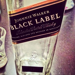 Game over.. Just killed this bottle of #johnniewalker #whiskey #alcohol #liquor #booze