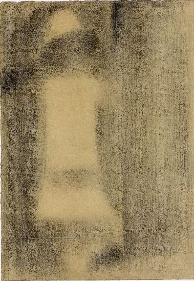 artemisdreaming:   Georges Seurat (1859-1891) (queue) Study for A Sunday on La Grande Jatte (known as The White Child), 1884 Conté crayon - 30.5 x 23.5 cm New York, Solomon R. Guggenheim Museum