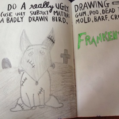 Love my wreck this journal #frankenweenie #wtj #badhandwriting #bored #justbecause. ✏📓