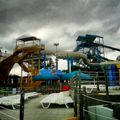at Six Flags Hurricane Harbor