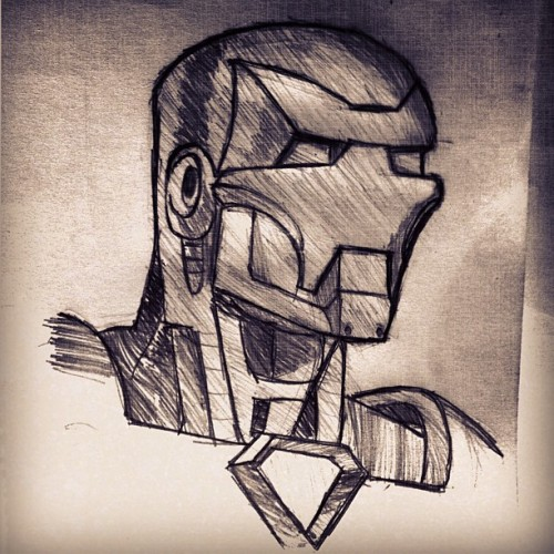 Sketch of the day - Iron Man I can't wait to see the New Iron Man 3 movie !!!!! #sketch #ironman #Marvel #Sometimesidraw #iponictextures