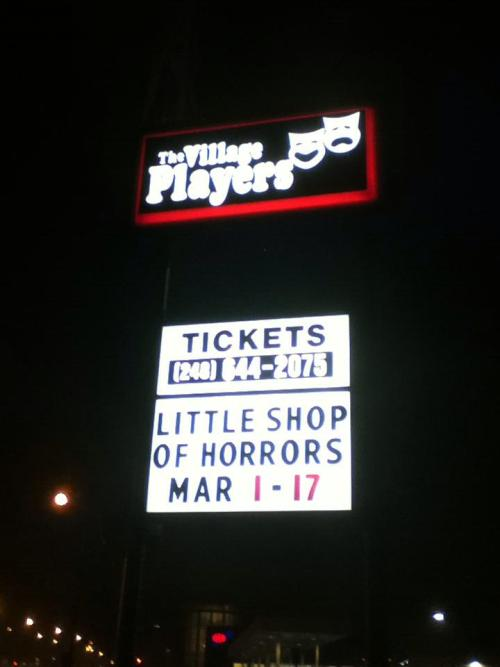 ah, one of the best parts of being in a show, is seeing the marquee.