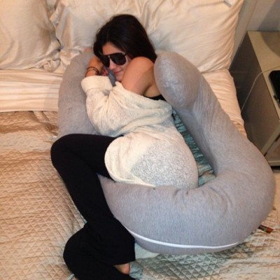 """Look who stole my pregnancy pillow""- Kim Kardashian"