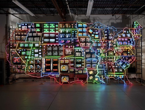 Nam June Paik, Electronic Superhighway: Continental US, 1995