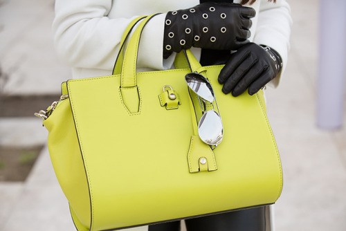 Annabelle Fleur  Alexander Wang Pelican satchel in acid yellow