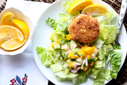 foodopia:  coconut shrimp cakes with mango salsa: recipe here