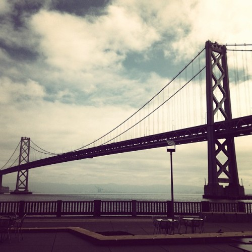 Good morning BB! #baybridge #waterbar #sf (at Waterbar)