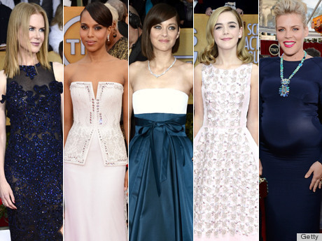 True Blue: The Best-Dressed Stars At The SAG Awards