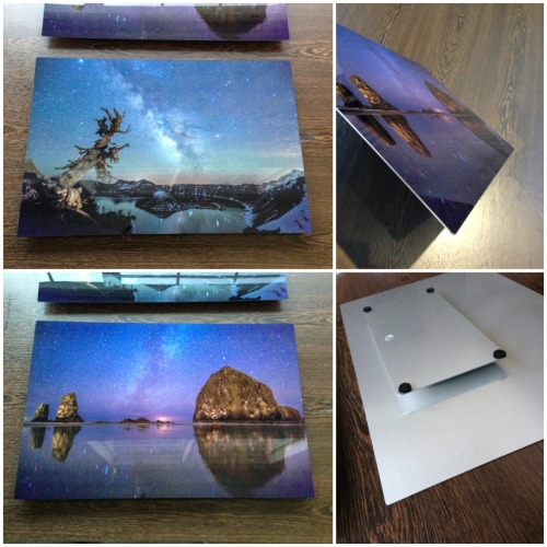 Some goodies arrived … images infused into the metal!Metal prints are now available at www.TheArtOfTimeLapse.com