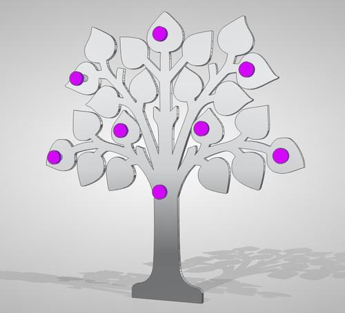 Progetto appendiabiti a forma di albero a parete fai da te ...