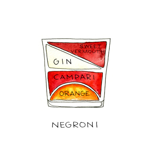 Negroni by Alyson Thomas  One of my favorite cocktails  - the makings of which were my birthday present from Eric.