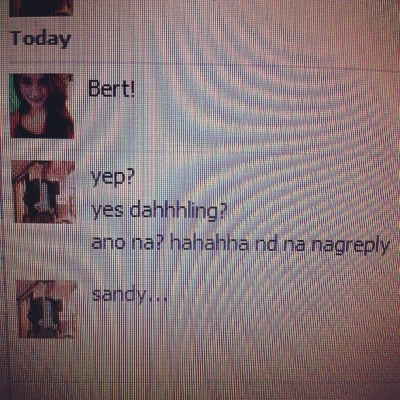 Ang weird m mag chat @andwraaa hahaha nag chat tpos nd na nagreply lol