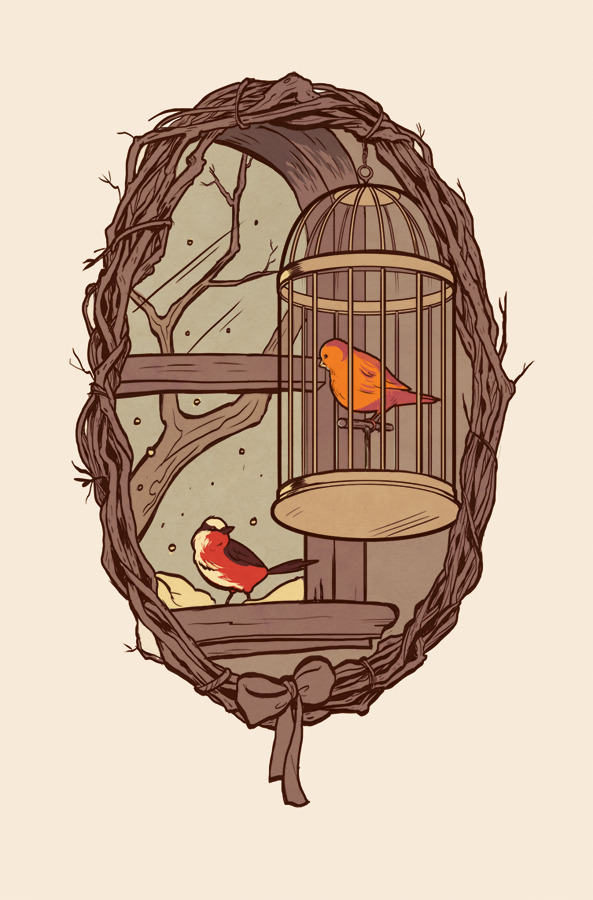 "commission for beth weate based on ""goodbye little yellow bird"""