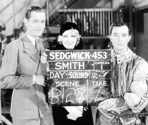 harlow-jean:  Robert Montgomery , Anita Page and Buster Keaton. 'Free and Easy' (1930)