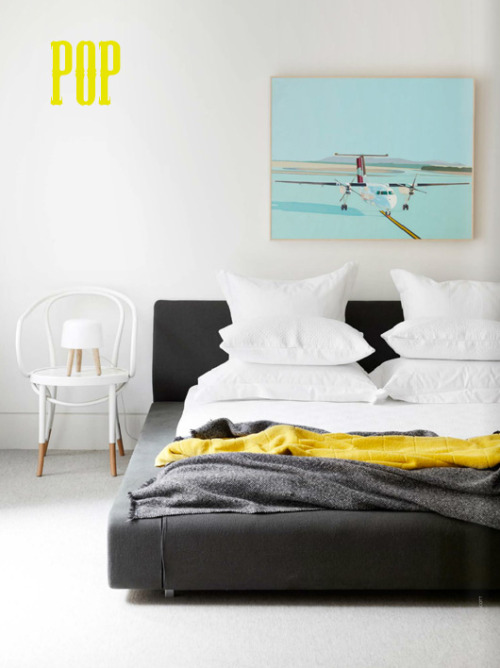 pops of yellow (via decor8)