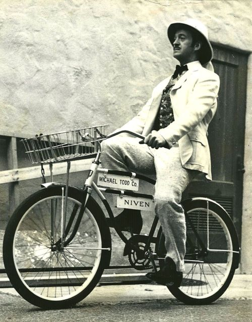 ridesabike:  David Niven rides a bike.
