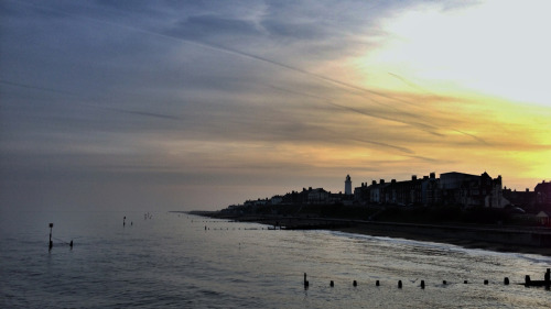 Sunset over Southwold