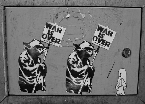 War is over on Flickr.And so this is Christmas! Have a good one people.  Taken August 2012 at See No Evil Street Art Project, Bristol, UK.