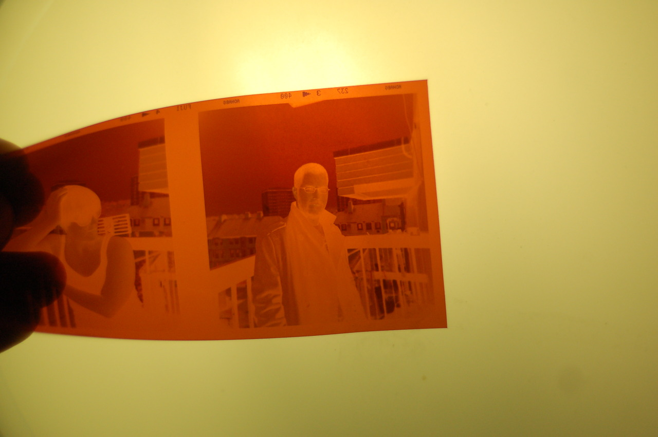 Turns out, I need to have a backlight on my scanner in order to scan negatives adequately. This is not something I have. So, I've read an article about how to DIY one, with an SLR and off-camera flash. Hmmmm.   Still waiting to hear back from them about why they didn't print it as 6x6 ( I can't remember if I said…but I sent the company an angry email, about them printing 6x6 photos onto 6x4 paper, and thus cropping half of it out. )