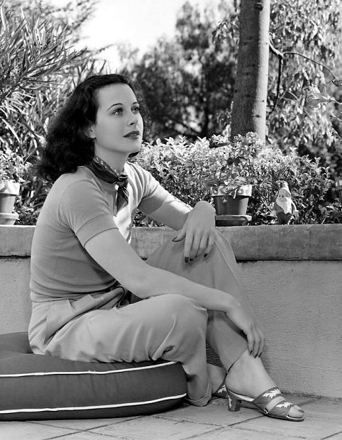Hedy Lamarr at home.