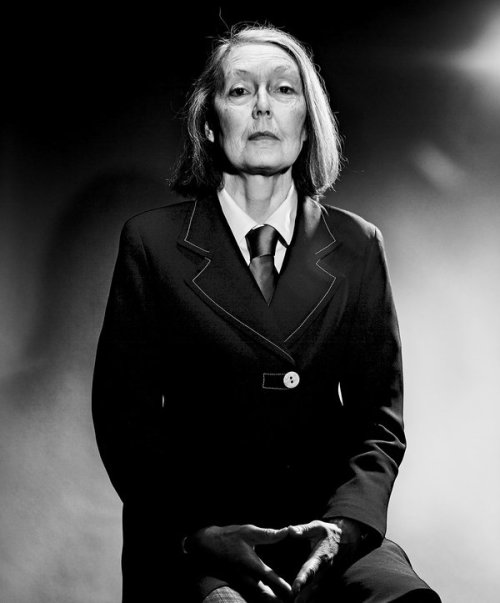 Anne Carson's indomitable look.  From an article in the NYT.