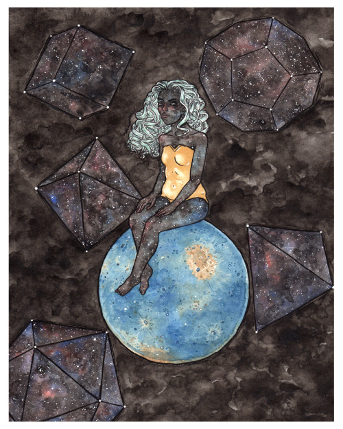 "ambird:  Creation of Understanding 11"" x 14"" // Watercolor & Ink // 2013 My last piece for Campy Crush's Banana Split Ladies Show at Leanna Lin's Wonderland. If you're near LA, stop by the opening on March 9th and say hello!"