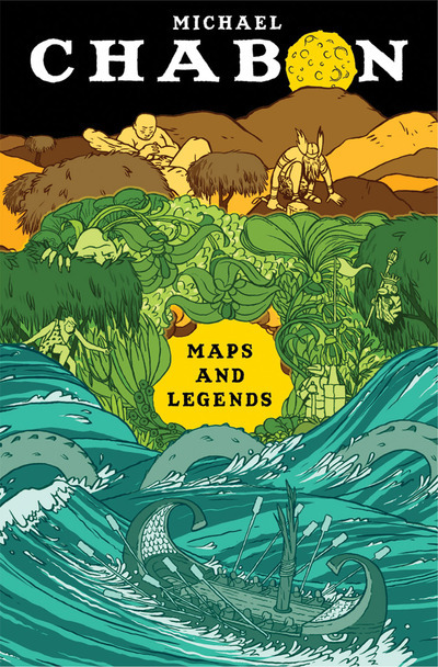 "fuckyeahbookcovers:  ""Maps and Legends"" by Michael Chabon Publisher: McSweeneys Designer: Jordan Crane"