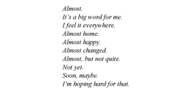 aseaofquotes:  Joan Bauer, Almost Home