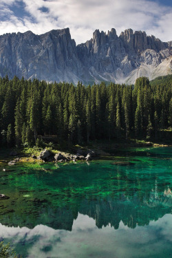euphoricspirit:  Lago di carezza by Vogelbetrachter on Flickr.