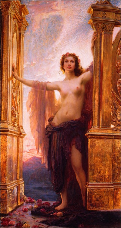 cauldronandcross:  The Gates at Dawn Herbert James Draper 1900