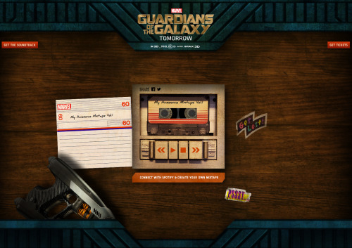 The Guardians of the Galaxy  are here and they want you to create your own Awesome Mixtape. Up for the challenge? http://spoti.fi/1lgu82z
