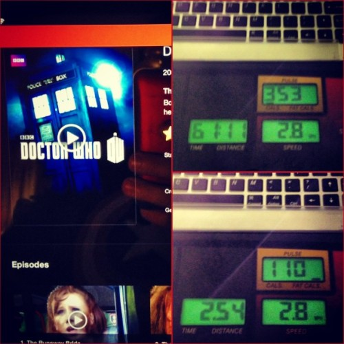 #Stats #Treadmill + #TARDIS time at an end. #DoctorWho was getting so good. #TheDoctor becoming human… #TheFamilyOfBlood. Might have to watch the rest of this one tonight. #MarthaJones! #TheCompanion #DavidTennant #Tennant #10thDoctor #fitness #workout #walking #exercise #Geek #Nerd #Dork