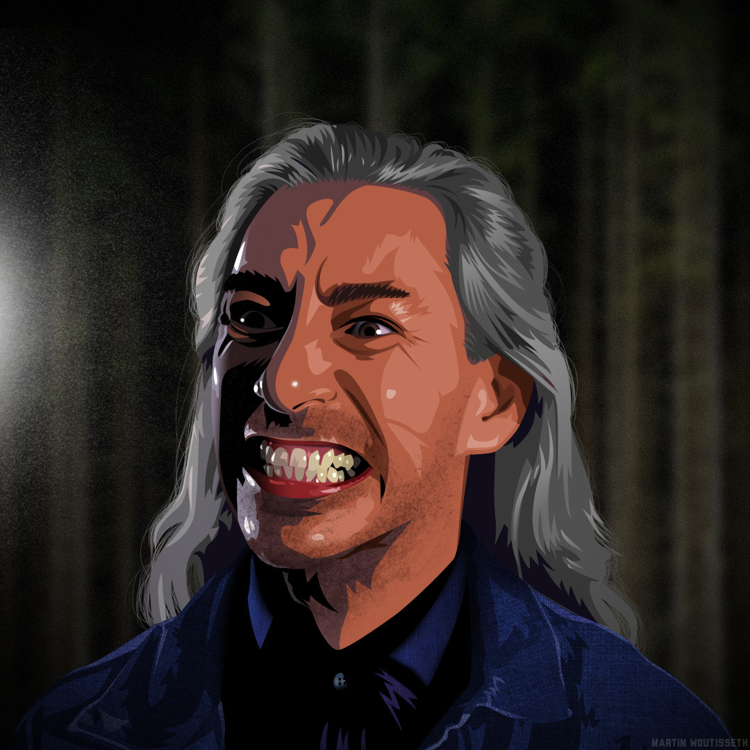 Twin peaks illustrated - Bob by Martin Woutisseth