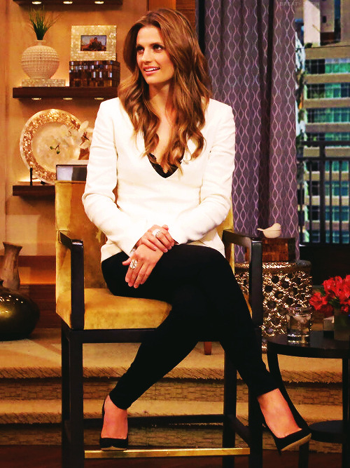 "Stana Katic - ""Kelly and Michael"" , April 1, 2013 (x)"