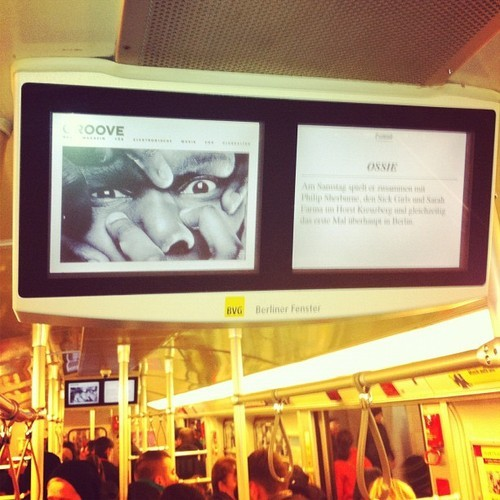 Sitting on the underground in Berlin I look up and what do I see…..? #ThisIsFucked!!!!! #horst #berlin 😜