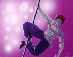 Fanart NSFW Hunter x Hunter HxH hisoka bare chest look at the things you people make me do XD this fucking clown knows no chill I suck at colouring sorry ¬¬ sword-swallow hyskoa-relatable you were asking for some stripper hisokas right? XD argh now to my homework ¬¬