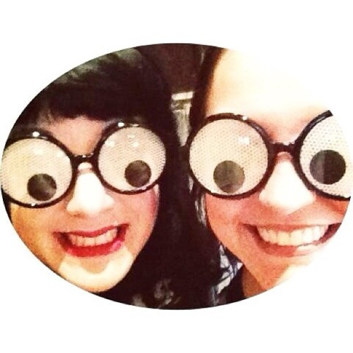 The Bloggess & I do our best #VandalEyes impression!