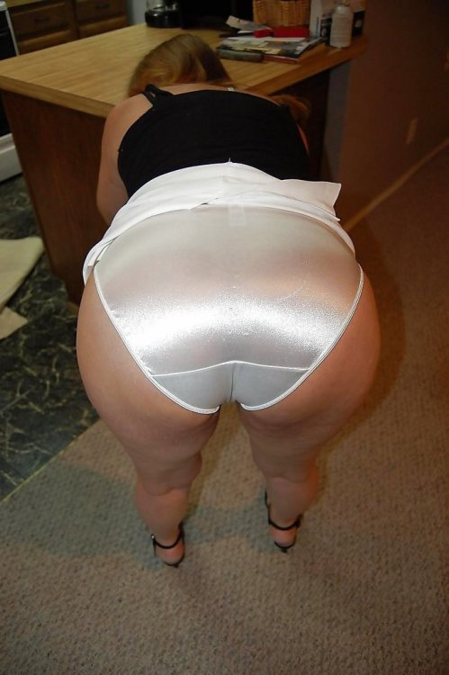 Silk white satin panties