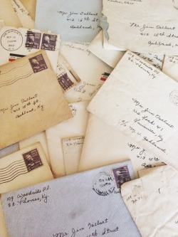 stineski:  theseptember-issue:  My grandpa kept every letter my grandma ever sent to him.  :')