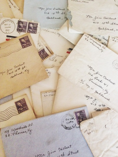 theseptember-issue:  My grandpa kept every letter my grandma ever sent to him.