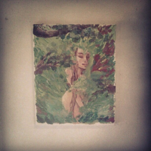 Woman in the green.  (at Crows nest)