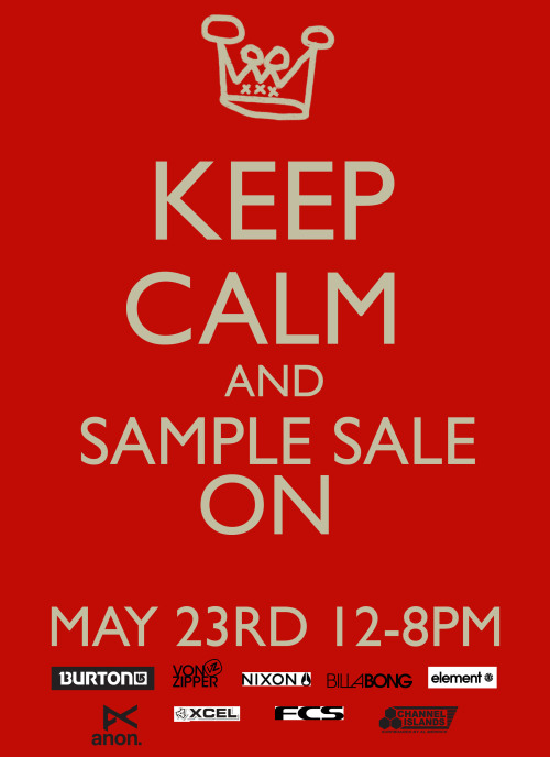 Its sample sale time again! May 23rd 12-8pm. 6029 Cunard St (Suite 6, on Clifton St) Food Bank donation required to gain entry. Check out our Facebook page for updates.