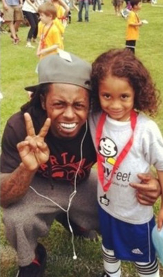 Lil Wayne supporting his son Tuney at his soccer game - http://www.lilwaynehq.com